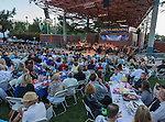 Maestro Laura Jackson performs with the Reno Phil during the Pops on the River fundraiser at Wingfield Park in Reno on  Saturday, July 9, 2016.