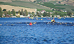 The first obstacle facing triathletes at the annual Chelanman Multi-Sport Weekend in July is the long 1900 meter swimming course.