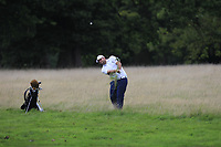 Jack Senior (ENG) in the rough on the 18th during Round 1 of the Bridgestone Challenge 2017 at the Luton Hoo Hotel Golf &amp; Spa, Luton, Bedfordshire, England. 07/09/2017<br /> Picture: Golffile | Thos Caffrey<br /> <br /> <br /> All photo usage must carry mandatory copyright credit     (&copy; Golffile | Thos Caffrey)