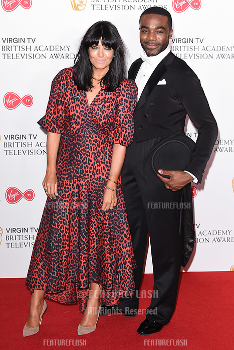 Claudia Winkleman and Ore Oduba in the winners room for the BAFTA TV Awards 2018 at the Royal Festival Hall, London, UK. <br /> 13 May  2018<br /> Picture: Steve Vas/Featureflash/SilverHub 0208 004 5359 sales@silverhubmedia.com