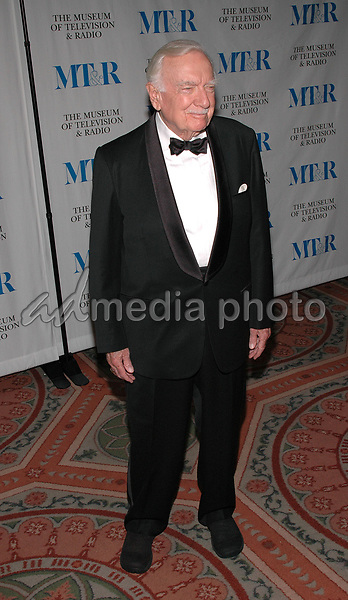 26 May 2005 - New York, New York - Walter Cronkite arrives at The Museum of Television and Radio's Annual Gala where Merv Griffin is being honored for his award winning career in radio and television.<br />Photo Credit: Patti Ouderkirk/AdMedia