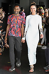 Fashion designer Carlton Jones walks runway with model Delphine for the close of his Carlton Jones Resort 2017 runway show at Le Bain in The Standard Hotel in New York City, on June 8, 2017.