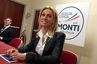 Annalisa Minetti.Roma 15/02/2013 Presentazione del programma per lo sport della Scelta Civica Monti per l'Italia..The italian premier presents his program for sport for the next elections 2013 and candidate two of the best athlets in the world at the past olympic and paralympic games. .Photo Samantha Zucchi Insidefoto