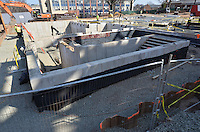 Foundation of Mechanical Room area. Central Connecticut State University. New Academic Building. Project No: BI-RC-324. Architect: Burt Hill Kosar Rittelmann Associates. Contractor: Gilbane, Inc.