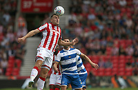 Stoke City's Sam Vokes <br /> <br /> Photographer Stephen White/CameraSport<br /> <br /> The EFL Sky Bet Championship - Stoke City v Queens Park Rangers - Saturday 3rd August 2019 - bet365 Stadium - Stoke-on-Trent<br /> <br /> World Copyright © 2019 CameraSport. All rights reserved. 43 Linden Ave. Countesthorpe. Leicester. England. LE8 5PG - Tel: +44 (0) 116 277 4147 - admin@camerasport.com - www.camerasport.com