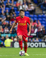 Pedro Chirivella of Liverpool during the 2016/17 Pre Season Friendly match between Tranmere Rovers and Liverpool at Prenton Park, Birkenhead, England on 8 July 2016. Photo by PRiME Media Images.
