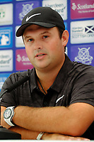 Patrick Reed (USA) during the preview of the Aberdeen Standard Investments Scottish Open, Gullane Golf Club, Gullane, East Lothian, Scotland. 11/07/2018.<br /> Picture Fran Caffrey / Golffile.ie<br /> <br /> All photo usage must carry mandatory copyright credit (&copy; Golffile | Fran Caffrey)