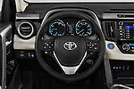 Car pictures of steering wheel view of a 2016 Toyota RAV4 Hybrid-Limited-4x4 5 Door SUV Steering Wheel