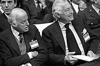 - the tycoons Leopoldo Pirelli (Pirelli Industries) and Gianni Agnelli (FIAT), Milan, March 1984....- gli industriali Leopoldo Pirelli e Gianni Agnelli  (Milano, marzo 1984)