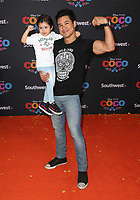 08 November 2017 - Hollywood, California - Mario Lopez, Dominic Lopez. Disney Pixar's &quot;Coco&quot; Los Angeles Premiere held at El Capitan Theater. <br /> CAP/ADM/FS<br /> &copy;FS/ADM/Capital Pictures