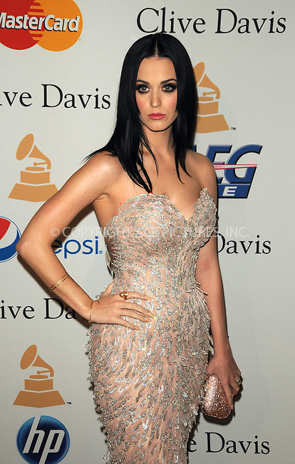 WWW.ACEPIXS.COM . . . . . ....February 12 2011, Los Angeles....Singer Katy Perry arriving at the 2011 Pre-GRAMMY Gala and Salute To Industry Icons Honoring David Geffen at Beverly Hilton on February 12, 2011 in Beverly Hills, CA....Please byline: PETER WEST - ACEPIXS.COM....Ace Pictures, Inc:  ..(212) 243-8787 or (646) 679 0430..e-mail: picturedesk@acepixs.com..web: http://www.acepixs.com