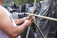 SAO PAULO 11.09.2014 - MTST OCUPACAO CHICO MENDES  - <br /> <br /> Ocupação Chico Mendes liderado pelo MTST. O terreno localizado atrás do cemitério Gethsemani no Morumbi, Zona Sul de São Paulo. Nesta quinta-feira (11) os líderes do movimento numeraram 1300 barracos e o local já possui mais de 2 mil familias.  <br /> (FOTO: FABRICIO BOMJARDIM/BRAZIL PHOTO PRESS)