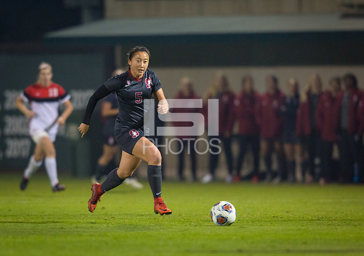 STANFORD, CA - November 9, 2018: Michelle Xiao at Laird Q. Cagan Stadium. The top seeded Stanford Cardinal defeated the Seattle Redhawks 3-0 in the opening round of the NCAA tournament.