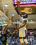 University at Albany men's basketball defeats Maine at the  SEFCU Arena, Feb. 24, 2018. Travis Charles (#30). (Bruce Dudek / Eclipse Sportswire)
