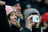 6th January 2020; Allianz Stadium, Turin, Italy; Serie A Football, Juventus versus Cagliari; a supporter of Juventus is excited to take pictures of the players - Editorial Use