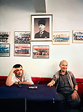 TURKEY, Istanbul, two men sitting at a bar near the Blue Mosque