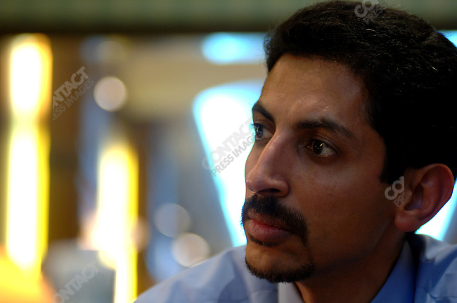 Abdul Hadi Al-Kahawaja, President of the Bahrain Center for Human Rights, photographed in Manama, the capital of Bahrain, December 13, 2005.