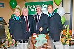 At the launch of the Aer Arann Dublin Kerry flights .L-R Karen McCarthy, Chairman of Kerry Airport Denis Cregan, Chairman of Aer Arann Padraig O'Ceidigh and Melanie Fitzgerald. ..