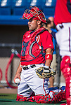9 March 2014: Washington Nationals catcher Sandy Leon warms up prior to a Spring Training game against the St. Louis Cardinals at Space Coast Stadium in Viera, Florida. The Nationals defeated the Cardinals 11-1 in Grapefruit League play. Mandatory Credit: Ed Wolfstein Photo *** RAW (NEF) Image File Available ***