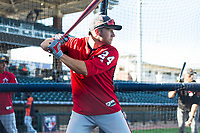 AFL East infielder Carter Kieboom (24), of the Salt River Rafters and the Washington Nationals organization, during batting practice before the Arizona Fall League Fall Stars game at Surprise Stadium on November 3, 2018 in Surprise, Arizona. The AFL West defeated the AFL East 7-6 . (Zachary Lucy/Four Seam Images)