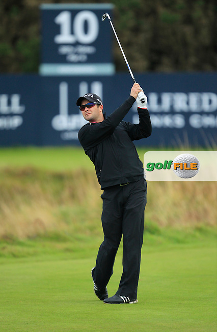 Mark Boucher during Round 2 of the Alfred Dunhill Links Championship at Kingsbarns Golf Club on Friday 27th September 2013.<br /> Picture:  Thos Caffrey / www.golffile.ie