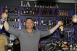 Sean Carrigan bartends - Karoake and Bartending at La Tavola Restaurant and Bar where Actors from Y&R, General Hospital and Days donated their time to Southwest Florida 16th Annual SOAPFEST - a celebrity weekend May 22 thru May 25, 2015 benefitting the Arts for Kids and children with special needs and ITC - Island Theatre Co. on May 24, 2015. (Photos by Sue Coflin/Max Photos)