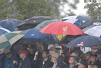 Ryder Cup 206 K Club, Straffin, Ireland...Ryder Cup fans during the morning fourballs session of the second day of the 2006 Ryder Cup at the K Club in Straffan, Co Kildare, in the Republic of Ireland, 23 September 2006...Photo: Eoin Clarke/ Newsfile.