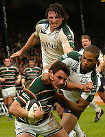 Leicester, ENGLAND.  Harry Ellis, Delon Armitage, Declan Danaher, Guinness Premiership Semi-Final. Leicester Tigers vs London Irish, at Welford Road, 05.2006. © Peter Spurrier/Intersport-images.com,  / Mobile +44 [0] 7973 819 551 / email images@intersport-images.com.   [Mandatory Credit, Peter Spurier/ Intersport Images].14.05.2006