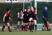 Havering celebrate but their 'goal' is disallowed during Upminster HC Ladies 4th XI vs Havering HC Ladies 3rd XI, Essex Women's League Field Hockey at the Coopers Company and Coborn School on 9th February 2019