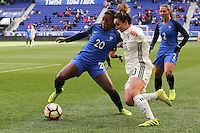 HARRISON, NJ, 04.03.2017 - FRANÇA-ALEMANHA - Onema Grace Geyoro jogadora da França durante partida contra a Lina Magull da Alemanha valido pelo 2017 She Believes Cup na cidade de Harrison em New Jersey neste sábado, 4. (Foto: Vanessa Carvalho/Brazil Photo Press/Brazil Photo Press)