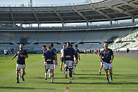 16th July 2020; Olympic Grande Torino Stadium, Turin, Piedmont, Italy; Serie A Football, Torino versus Genoa; Genoa players during the pre-game warm-up