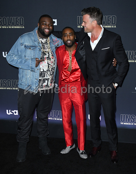 "22 February 2018 - Hollywood, California - Wavyy Jonez, Marcc Rose, Josh Duhamel. USA Network's ""Unsolved: The Murders of Tupac & The Notorious B.I.G."" held at Avalon Hollywood. Photo Credit: Birdie Thompson/AdMedia"