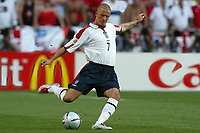 David Beckham of England in action during the European Championship football match between France and England. France won 2-1 over England <br /> Lisbon 13/6/2004 Estadio da Luz <br /> Photo Andrea Staccioli Insidefoto