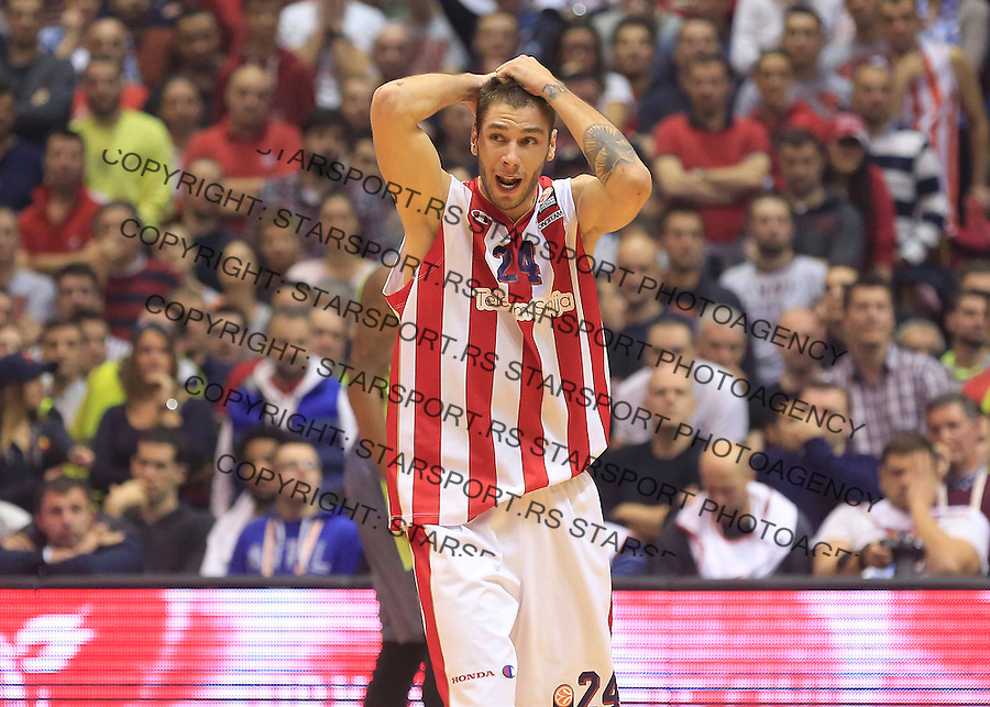 Kosarka Euroleague season 2015-2016<br /> Euroleague <br /> Crvena Zvezda v Real Madrid<br /> Stefan Jovic reacts<br /> Beograd, 27.11.2015.<br /> foto: Srdjan Stevanovic/Starsportphoto &copy;
