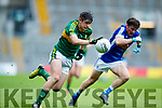 Donal O'Sullivan Kerry in action against John Cooke Cavan in the All Ireland Minor Semi Final in Croke Park on Sunday.