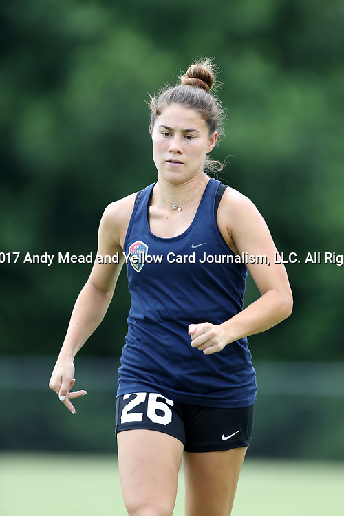 CARY, NC - JULY 11: Samantha Witteman. The North Carolina Courage held a training session on July 11, 2017, at WakeMed Soccer Park Field 6 in Cary, NC.