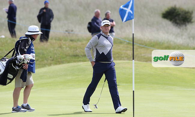 Jamie Donaldson (WAL) during Round Three of the 2015 Aberdeen Asset Management Scottish Open, played at Gullane Golf Club, Gullane, East Lothian, Scotland. /11/07/2015/. Picture: Golffile | David Lloyd<br /> <br /> All photos usage must carry mandatory copyright credit (&copy; Golffile | David Lloyd)