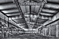 The interior of the Central Railroad of New Jersery (CRRNJ) Terminal, located in Liberty State Park, Jersey City, New Jersey.