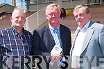 AWAY: Away from the hustle and bustle of the Election was Minister John O'Donoghue with Finbarr Kelly and Tony McCarthy (Caherciveen) at Listowel Races on Sunday..