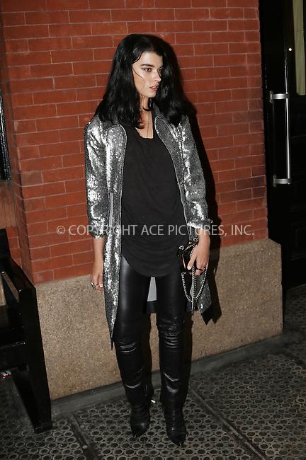 WWW.ACEPIXS.COM<br /> <br /> March 31 2015, New York City<br /> <br /> Model Crystal Renn seen outside a Soho hotel on March 31 2015 in New York City<br /> <br /> By Line: Zelig Shaul/ACE Pictures<br /> <br /> ACE Pictures, Inc.<br /> tel: 646 769 0430<br /> Email: info@acepixs.com<br /> www.acepixs.com