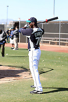 Johermyn Chavez #70 of the Seattle Mariners participates in spring training workouts at Peoria Sports Complex on February 27, 2011  in Peoria, Arizona..Photo by:  Bill Mitchell/Four Seam Images.