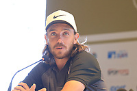 Tommy Fleetwood (ENG) at a press conference during Wednesday's Pro-Am of the 2018 Turkish Airlines Open hosted by Regnum Carya Golf &amp; Spa Resort, Antalya, Turkey. 31st October 2018.<br /> Picture: Eoin Clarke | Golffile<br /> <br /> <br /> All photos usage must carry mandatory copyright credit (&copy; Golffile | Eoin Clarke)