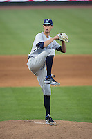 Wilmington Blue Rocks starting pitcher Eric Skoglund (25) in action against the Winston-Salem Dash at BB&T Ballpark on June 10, 2015 in Winston-Salem, North Carolina.  The Blue Rocks defeated the Dash 11-5.  (Brian Westerholt/Four Seam Images)