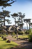USA, California, Big Sur, Esalen, walking towards the Murphy House, the Esalen Institute