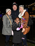 Catriona and Mesgana Sutton and Jimmy and Sarah Giles at the Fireworks display sponsored by Funtasia at Scotch Hall Shopping Centre as part of the Drogheda Christmas BonanzaFestival. Photo:Colin Bell/pressphotos.ie