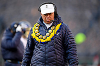 PHILADELPHIA, PA - DEC 8, 2018: Navy Midshipmen head coach Ken Niumatalolo on the sidelines during game between Army and Navy at Lincoln Financial Field in Philadelphia, PA. Army defeated Navy 17-10 to win the Commander in Chief Cup. (Photo by Phil Peters/Media Images International)