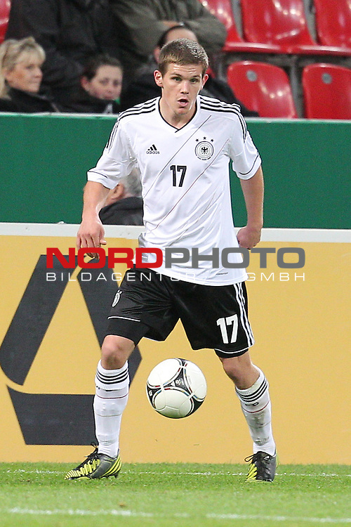 12.10.2012, BayArena, Leverkusen, GER, U21 EMQ, Deutschland vs Schweiz, im Bild<br /> Sebastian Jung (Deutschland #17, Frankfurt)<br /> <br /> Foto &copy; nph / Mueller *** Local Caption ***