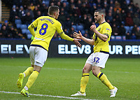 Blackburn Rovers' Craig Conway celebrates scoring his side's first goal with Joe Rothwell<br /> <br /> Photographer David Shipman/CameraSport<br /> <br /> The EFL Sky Bet Championship - Sheffield Wednesday v Blackburn Rovers - Saturday 16th March 2019 - Hillsborough - Sheffield<br /> <br /> World Copyright &copy; 2019 CameraSport. All rights reserved. 43 Linden Ave. Countesthorpe. Leicester. England. LE8 5PG - Tel: +44 (0) 116 277 4147 - admin@camerasport.com - www.camerasport.com
