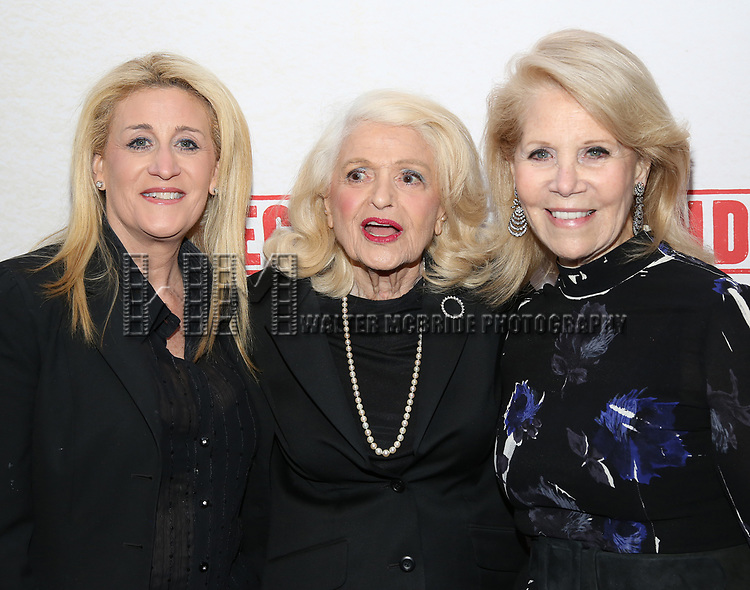 Judith Kasen, Edie Windsor and Daryl Roth attend the Broadway Opening Night Performance of  'Indecent' at The Cort Theatre on April 18, 2017 in New York City.
