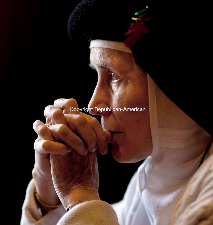 """BETHLEHEM, CT-30 April 2013-043013BF01- Mother Dolores Hart, O.S.B., Prioress of The Abbey of  Regina Laudis in Bethlehem will be releasing an autobiography titled, """"The Ears of the Heart: An Actress' Journey From Hollywood To Holy Vows.""""  Hart is a Tony-nominated actress famous for giving Elvis Presley his first on-screen kiss.  Bob Falcetti Republican-American"""